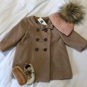 Baby gap baby girl pea coat NWT